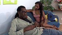 Black gangster with dreadful locks penetrated juicy ebony chick Tiffan Monroe and jizzed on her perky tits