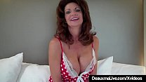Busty Texas Cougar Deauxma is testing out her big 9 inch dildo, to see deep she can shove it inside her moist mature muff! Watch this hot wife dildo fuck herself to get her test results correctly!
