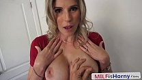Blonde Mom, Fake Tits, Cheating with Stepson