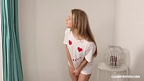 Bokep Horny Angel Calibri Spreads Her Legs Wide Open