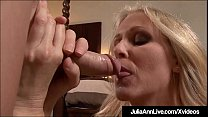 Horny Hot Milf Julia Ann is on her knees, saying some pretty nasty things while she sucks on a cock POV in this hot blowjob clip!