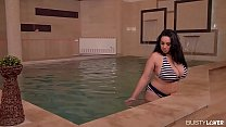 Titty Squeezing Time: Voluptuous Milf Fucked By The Pool!