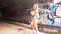 BLONDE PORNSTAR KARMA RX OUTDOOR DOGGYSTYLE FUCK IN A TUNNEL