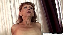 Unshaved granny cunt is hungry for young dick