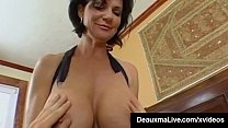 Busty Brunette Milf Deauxma gets all her mature holes filled by a Young Stud's Cock who bangs her Tight Asshole until she Squirts! Then He Cums too! Full Video & Deauxma Live @DeauxmaLive.com