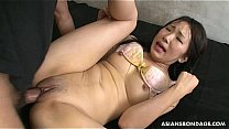 Asian bitch getting her soaking wet pussy fucked greatly
