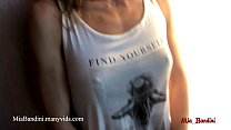 Fitness girl masturbating In public place! Amateur model, petite babe