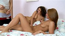 Two Hot Teens Black Tina And Megan Vale In Anal Threesome