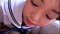 Asian student sucking cock