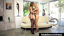 Delicious Lesbians, Natalia Starr & August Ames have mind blowing orgasms as they tongue fuck each other!