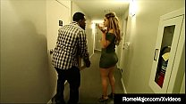 Black Knight Rome Major helps his new neighbor, Hispanic Hottie Miss Raquel, who thanks him with a front door to her hot latina pussy, for Rome to bang until he busts his nut on her big butt!