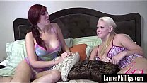 Stunning Redhead Lauren Phillips Plays With a Gaping Ass With Roxy Raye!