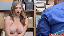 Busty college graduate banged by officer for stealing