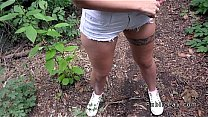 Bokep Perfect ass in shorts and sex in woods