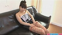 Bokep Softcore solo with Akane Ozora having fun with her clit