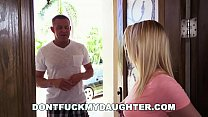DON'T FUCK MY DAUGHTER - Petite Teen Bailey Brooke Is Home Alone