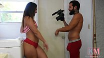 KM.19 Kelsi Monroe Latina Milf Pornstar Sucks and Gets Fucked in the Laundry Room with her Boyfriend