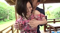 Hot japan girl Minami Asano in beautiful outdoor porn video
