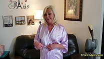 Ms Paris Pleases with Satin Blouse & Her Pantyhose