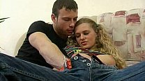Blonde Russian Teen Fucked Anal and Sucks Cock