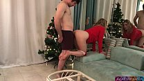Stepsister gets a facial for Christmas from her stepbrother