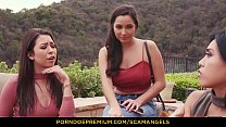 SCAM ANGELS - Karlee Grey and sexy friends share cock in hot foursome groupsex