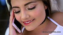Adria and romi in threesome with horny guy