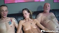 Horny couple always wanted to try a threesome, so they invited a friend to fuck.