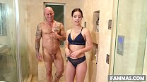 Bubble butted babe and her sister's husband have oily fuck session