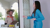 BANGBROS - Young Black Guy Goes Balls Deep In Ariella Ferrera's Cougar Snatch