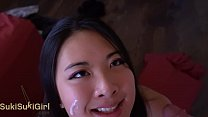 pov BRUTAL FACEFUCK for asian whore covered in cum