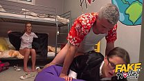 Fake Hostel threesome with alexis crystal and barbara beiber