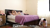 SpyFam Step sister Kenzi Kellie catches step brother sniffing panties