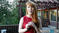 PropertySex - Hot redhead real estate agent performs sexual favors
