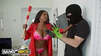 BANGBROS - Black MILF With Big Tits Stands Her Ground When Criminal Breaks In