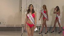 Shy but classy brunette Sybil gets banged right after the beauty contest