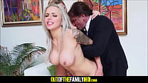Young And Petite Blonde Teen Stepdaughter Holly Mack Caught Fucking The Limo Driver