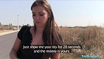 Public Agent Ellie Springlare gets cash in hand and cock in mouth