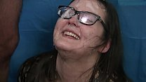 Bokep Amateur gets face and glasses cum covered