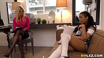 Therapist Dr. India Summer is going to seduce a black woman half her age!