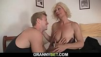 He fucks cute blonde mommy from behind