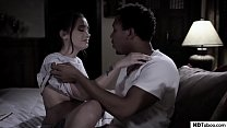 Gia Paige and her black boyfriend having sex while her step bro voyeuring