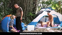 Two Dad's Trade Daughters On Camping Trip