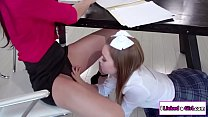 Redhead teacher pussylicked by her horny lesbian student