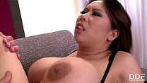 Bokep Hot Asian bombshell with big tits Tigerr Benson double penetrated by two studs