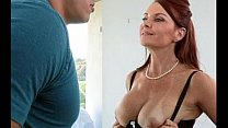 Tight Business Skirt Mature MILF with Big Tits shares with Teen (who are they?)