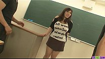 Bokep Plump and busty student fucked by two hung and horny teachers