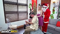 BANGBROS - Anastasia Knight Takes Family Photo While Taking Santa's Cock