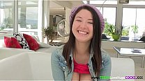 Cute cockloving teen with bigtits facialized