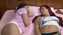 Sensual lesbian sex with an older babe and her younger friend